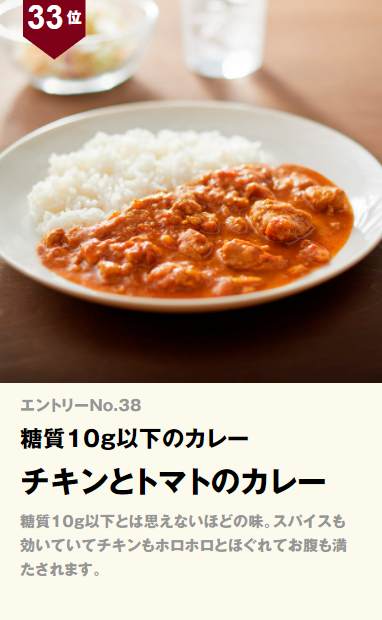 無印良品 糖質10g以下のカレー チキンとトマトのカレー